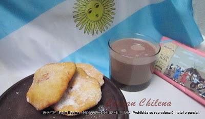 TORTAS FRITAS CON CHOCOLATE CALIENTE