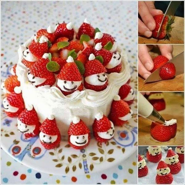 arvore de natal de frutas para ceia de natal