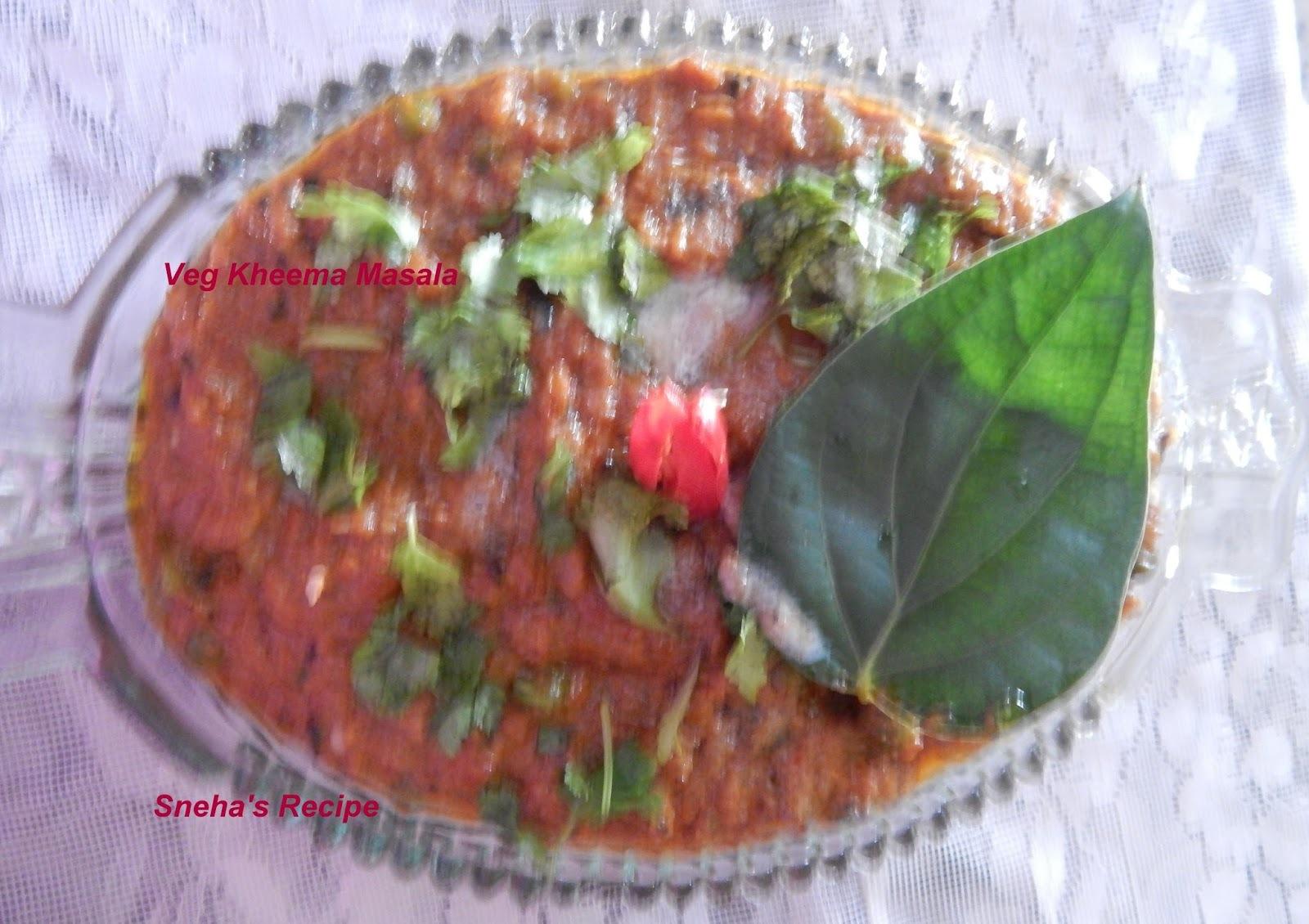 veg kheema masala