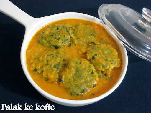 Palak kofte in Microwave/Spinach kofte