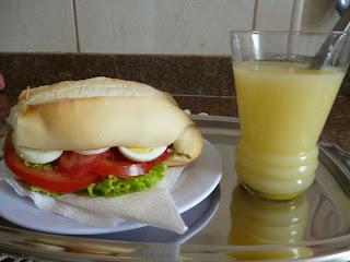 sanduiche americano simples
