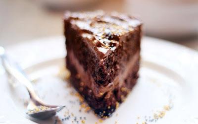 bielková torta s čokoládovým krémom