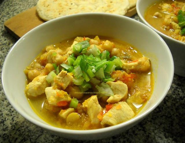 Curry de pollo al microondas