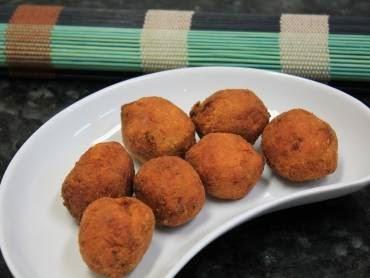 Bolinho de abóbora com carne seca e mussarela