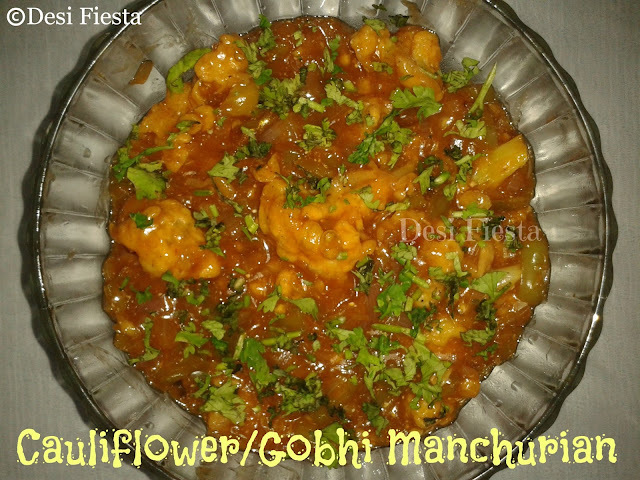 Cauliflower manchurian /gobhi manchurian (come on - let cook buddies) Entry 59
