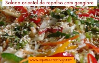 salada de repolho com gengibre e cenoura