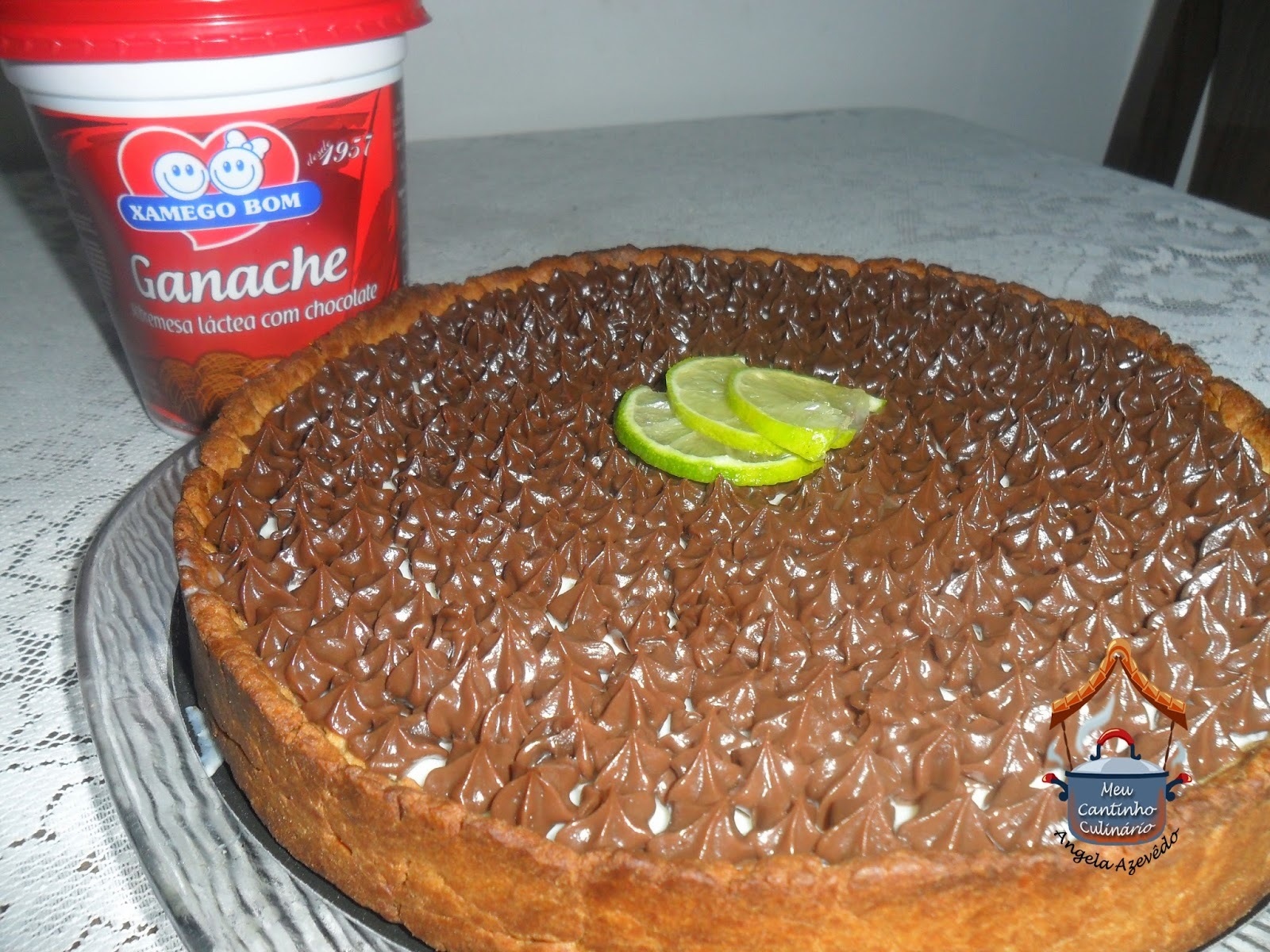 torta mousse de manga com limão