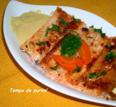 acompanhamento para salmão com molho de maracujá