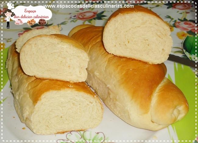 Pão caseiro, sem ovos na massa