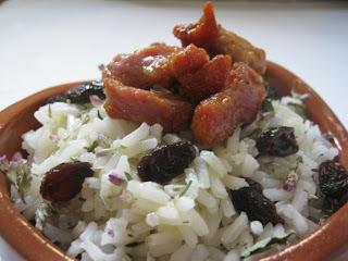 Carn macerada amb arròs basmati