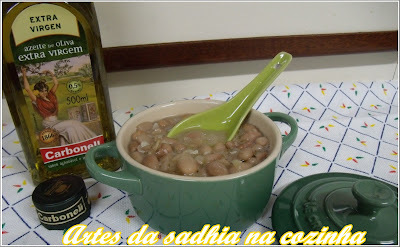 Meu feijão  com azeite  extra virgem Carbonell