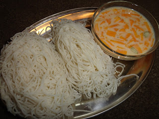 Semige Rasayana/Ottu Shavige with Rasayana/Home made Rice Noodles
