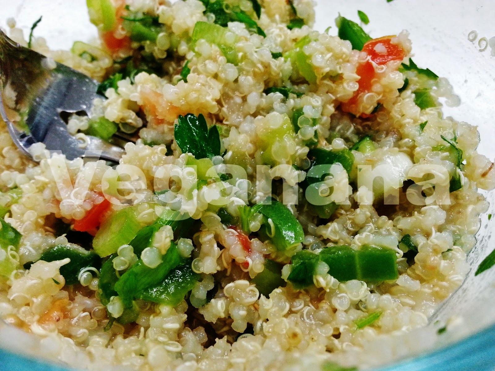Salada de Quinoa com  Pimentões