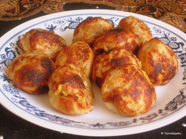 Low Fat Boorelu ~ Low Fat Sweet Dumplings