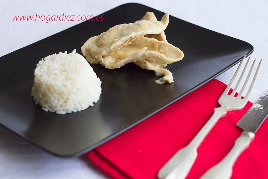 Pechugas de pollo con salsa de queso de cabra con Chef o Matic Pro