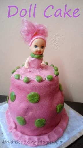 Doll Cake for Kids Birthday Party | My First Fondant Cake