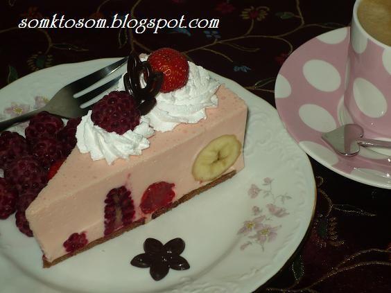 Ovocná želé torta - nepečená