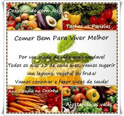 Divulgação do Legume e Fruta da BC Comer Bem Para Viver Melhor