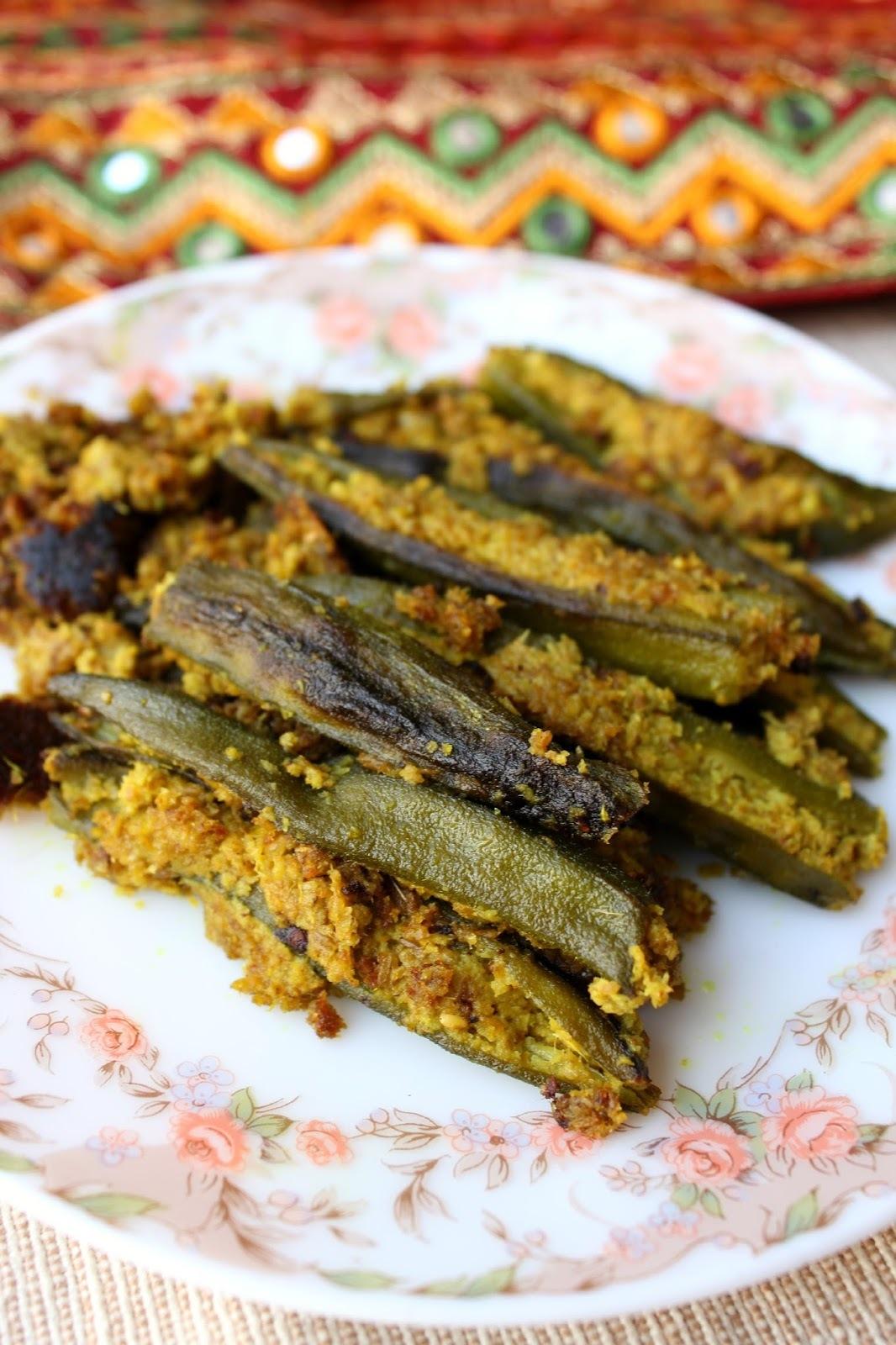 Bhindi Sambhariya – Gujarati syle stuffed Okra
