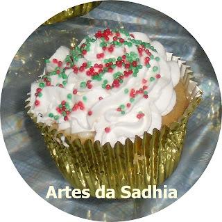 Cupcake vestido para o natal