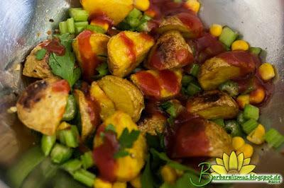 Salada de Batatas com Molho Barbecue
