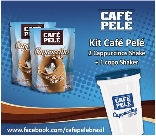 SORTEIO KIT CAFÉ PELÉ - 2 Capuccinos Shake + 1 copo Shaker