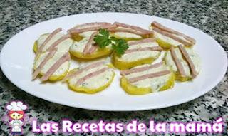 Receta de Patatas cocidas con salsa