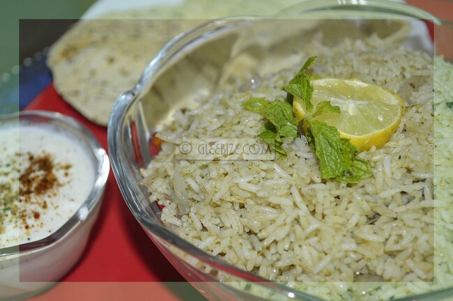 Refreshing Recipe | Mint with Rice