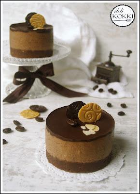 Csokis-kávés túrótorta (sütés nélkül)