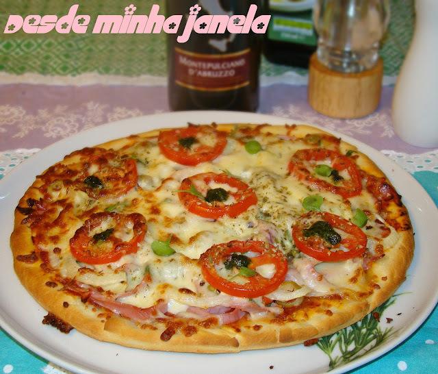 Massa para pizza extra macia