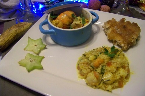 Cari de langoustes et menu créole festif
