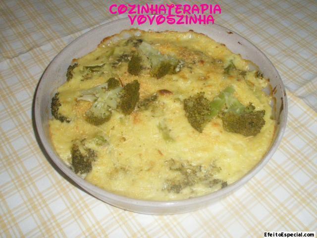 Brocólis com creme de queijo
