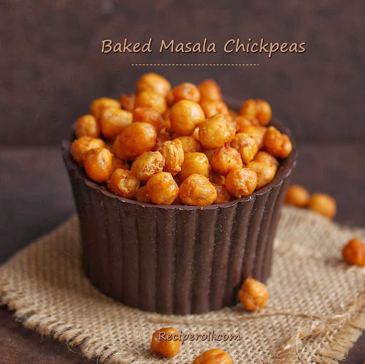 Masala Chickpeas | Baked Chickpeas | Diwali Snacks