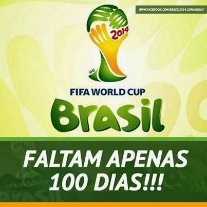 FUTEBOL - Copa do Mundo da Fifa Brasil 2014 (12/jun a 11/jul): a 100 dias dessa festa, veja mais sobre o assunto e opine!