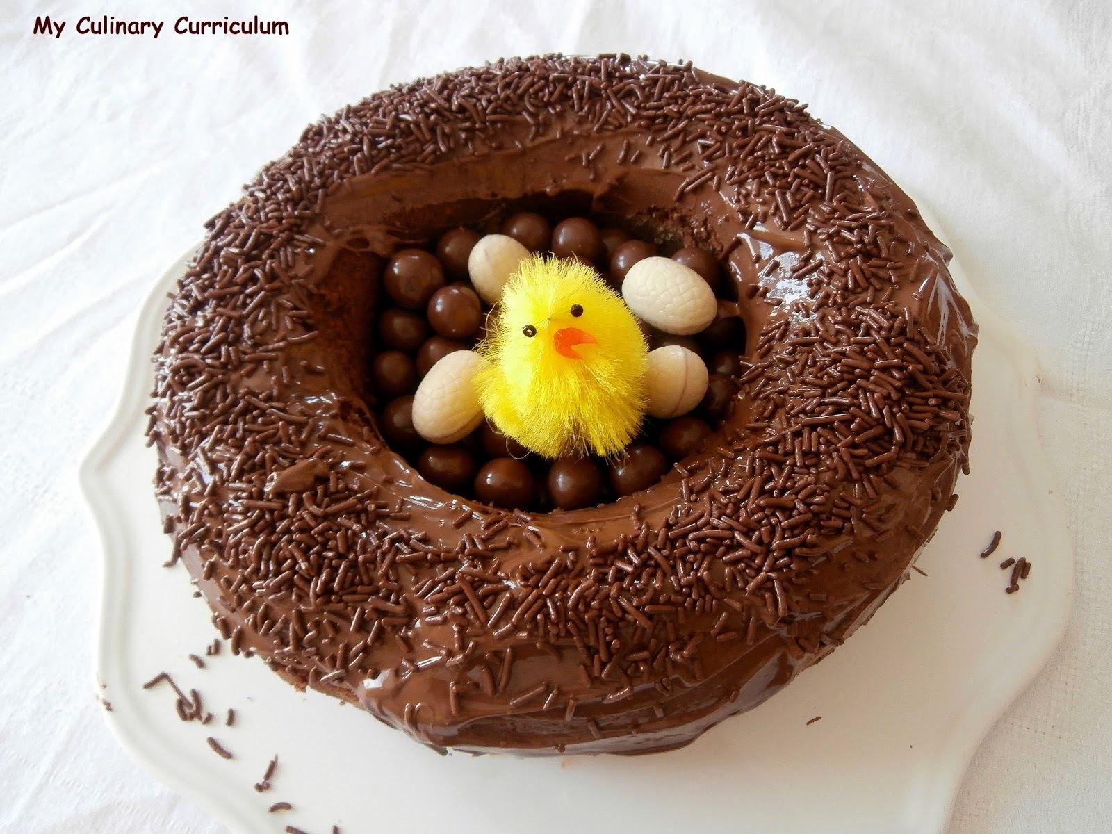 Nid de Pâques au Nutella très facile (Easter cake with Nutella)