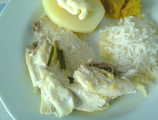 Filé de Tilapia Cozido no Vapor com Capim Limão, Gengibre e Laranja