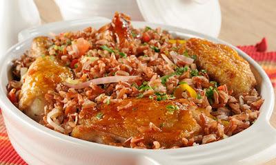 arroz com galinha
