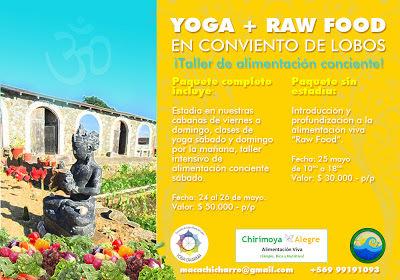 Fin de Semana de Yoga + Raw Food en Pichilemu