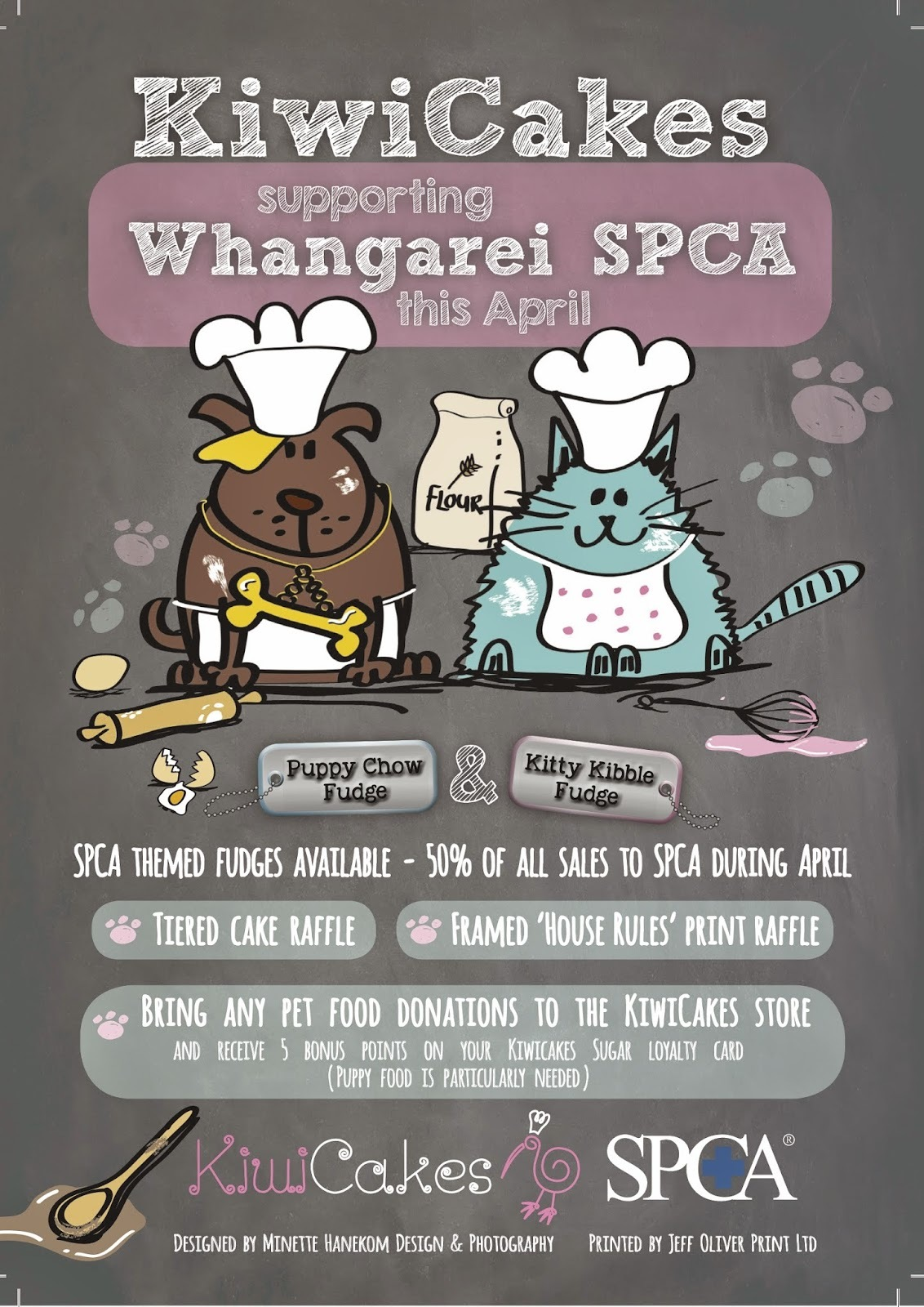 SPCA Support Month During April at Kiwicakes