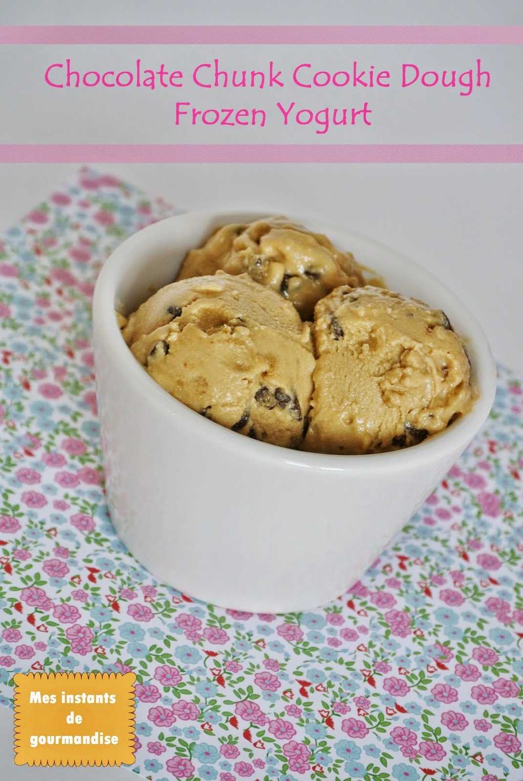Battle Food #23 : Yaourt glacé goût cookies & pépites de chocolat [Chocolate chunk cookie dough frozen yogurt]