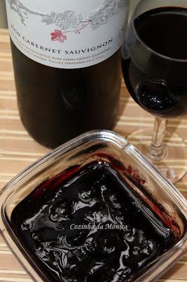 Geleia de vinho tinto (Cabernet Sauvignon)