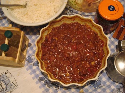 feijão carioca cozido com repolho