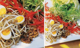 salada de carne seca desfiada