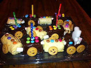 Gâteau train 3D (version 2)