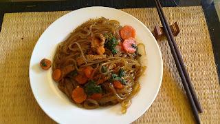 Ensalada Coreana/Tibia de Fideos de Batata