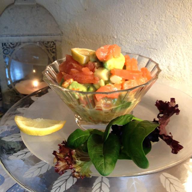 """Salade Nordique au saumon fumé """"Papilles en Fête : facile et pas cher"""""""