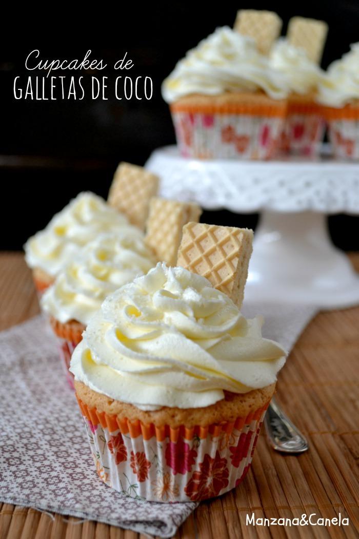 Cupcakes de galletas de coco