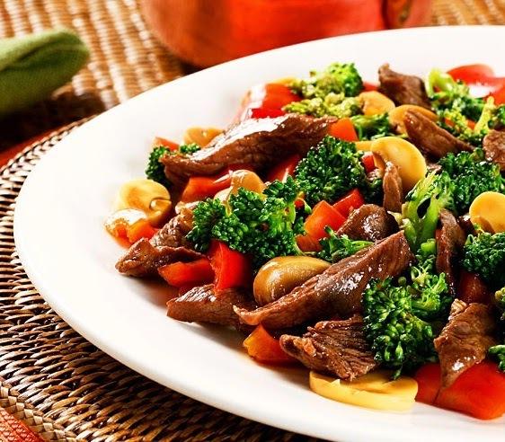 Carne Chinesa leve (sem óleo)