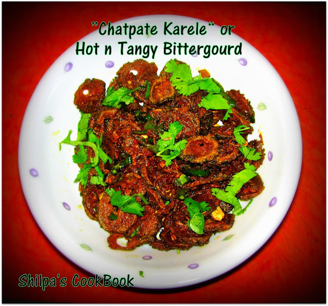 """Chatpate Karele"" or Hot n Tangy Bittergourd"