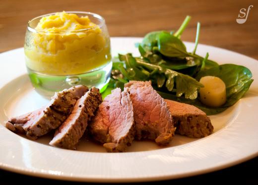 Filet de porc moutarde et ail